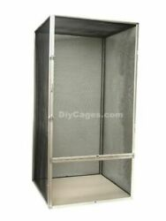 Screen Reptile Chameleon Lizard Snake Cage Diy Cages 48x24x24 Aluminum No Rust