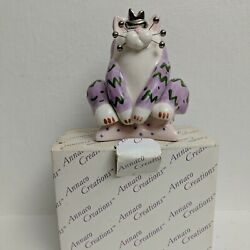 2002 ANNACO CREATIONS WHIMSICLAY CAT FIGURINE Collectible Item# 24229