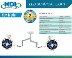 Double Operating Light Examination And Surgical Lamp Ceiling Twin 48+48 Led Light.