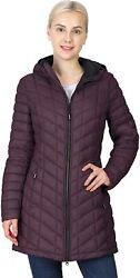 Outdoor Ventures Womenand039s Maryan Hooded Ultra Lightweight Warm Thermolite Long Pu