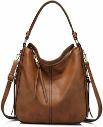 Realer Hobo Bags for Women Faux Leather Purses and Handbags Large Hobo Purse wit $80.11