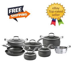 Epicurious 13 Piece Hard Anodized Chef Cookware Set Free Shipping
