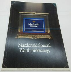 Macdonald Special. Worth Protecting. - Cigarettes Cardboard Sign