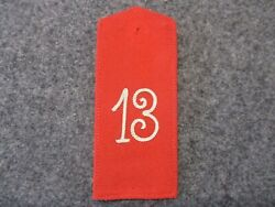 Original Imperial German Army Shoulder Strap 13 In White For The Blue Uniform