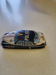 Vintage Small Tin Police Car -- Made In Japan