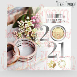 Married In 2021 - 5-coin Wedding Gift Card Set 2specially Struck 125c10c5c