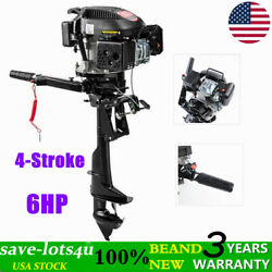 Hangkai 6 Hp 4 Stroke Outboard Motor Boat Engine Air Cooling System