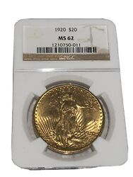 Set Of 10 Ngc Ms62 20 Us Gold Coin Before1828 Circa 1920 -1927 For All 10 Coin