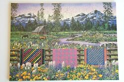 Stave Wooden Puzzle Three Sisters Quilt 250 Pieces Mountains Oregon Northwest
