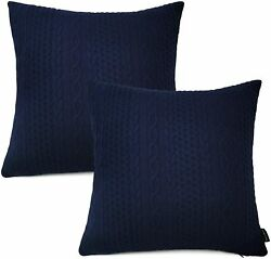 Booque Valley Decorative Pillow Covers Pack of 2 Super Soft Elegant Modern Embo