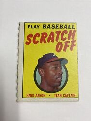 1970 Topps Play Baseball Scratch Off And Scorecard Hank Aaron Scored/scratched