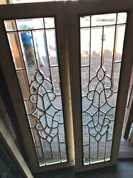 Sg 2552 Pair All Beveled Transom Or Sidelight Window 15.25 X 53