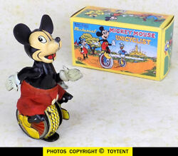 Mickey Mouse Unicyclist Unicycle Linemar Tps Japan Walt Disney ... See Movie
