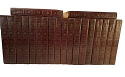 Rare Leather National Encyclopedia 1963 20 Vol Full Set By Educational Resources