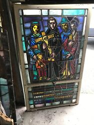 Mar Painted And Fire Religious Window Figural Preach The Gospel
