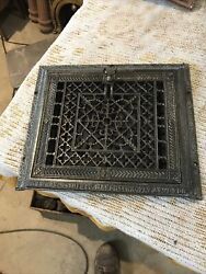 J 42antique Cleaned Wall Mount Heating Grate Snyder Company...15 X 17.5