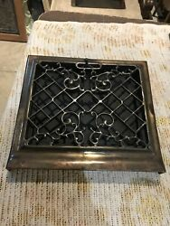 J 6 4 Available Antique Cleaned Floor To Wall Mount Heat Grate 13 1/8 X 14 5/8