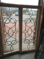 Sg 2535 Gorgeous Match Pair Antique All Beveled Glass Transom Or Sidelight Windandhellip