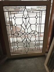 Sg 2651 3 Available Price Separate Antique Beveled Leaded Glass Window