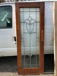 Oxf 16 Antique All Beveled Glass Swing Door Or Passage 29.25 X 78