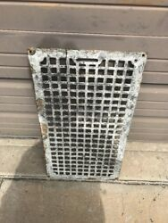 """An Cast-iron Cold Air Return Or Heating Grate 13 7/8""""by 25.5 Crack"""