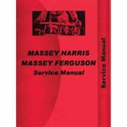 Service Manual - 20 20k Compatible With Massey Harris 20 20 20 20