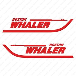 Boston Whaler Boats Logo Decals Stickers Red Set Of 2 18 Long