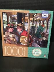 """""""the Conversation"""" By Susan Brabeau 1000 Piece Puzzle With Box Easel"""