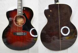 Used And03986-and03989 Yamaha Fj-945 Wine Red Burst Vintage Acoustic Guitar Country Jumbo