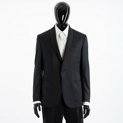Brioni 6250 Madison Essential Smoking Suit In Black Super 160and039s Virgin Wool