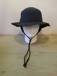 Columbia Sportswear Vintage Black Bucket Hat w Ear Flaps Chin Strap USA M $15.00