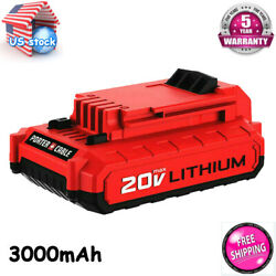 For Porter Cable Pcc685l 20v Max Lithium Pcc680l 3.0amp Hour 2pack Drill Battery
