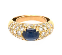 1.50ct Natural Round Diamond 14k Solid Yellow Gold Sapphire Cocktail Ring Size 7