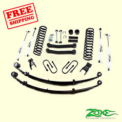 4.5 F And R Suspension Lift Kit Fits Jeep Cherokee Chrysler 4wd Gas 1984-01 Zone