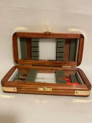 """Hand Crafted Wooden Double Fishing Floater Box 8""""x4""""x2"""" 200x100x50mm Approx."""
