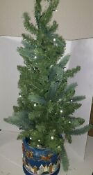 Jim Shore Bethlehem Lights Christmas Tree 31 Tall Battery Operated Collectible