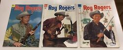 Roy Rogers Comics Comic Books Dell Set Of 3 Great Condition