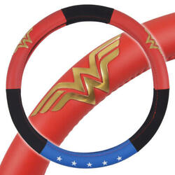 Wonder Woman Leather Velour Steering Wheel Cover Official Dc Comic Universal Fit