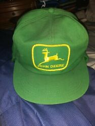 Vintage John Deere Green Yellow Ruim Equipment Hat Patch With Flaps K-products