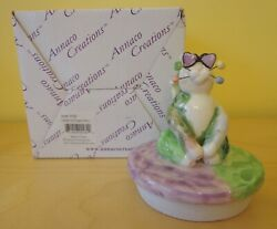 WhimsiClay Cat by Amy Lacombe Jar Candle Topper Jerry Cat 2002 NEW