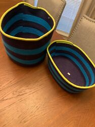 Lot of 4 Target Room Essentials Coiled Rope Bins