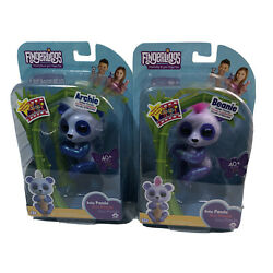 New Bundle Of 2 Fingerlings Baby Pandas Archie And Beanie