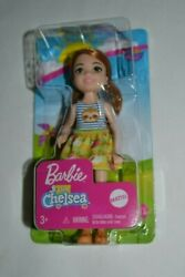 2019 Barbie Club Chelsea Red Headed Girl Doll With Hazel Eyes Sloth Top And Skirt