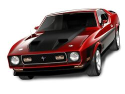 1971 Ford Mustang Mach 1 Red Poster 24 X 36 Inch Sweet
