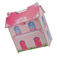 A B Gee Tx1092 Small Wooden Dolls House With Furniture - Multicolor