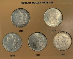 55 Coin Complete 1878-1999 Morgan Peace Ike Sba Silver Dollar Date And Mint Set