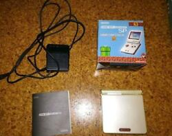 Nintendo Game Boy Advance Sp Nes Color Console W/ Box And Adapter And Instructions