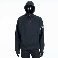 Dior Homme 2100 Oversized Hoodie In Navy Blue Cotton With Dior Oblique Hood