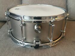 Dunnett Classic Titanium 14x65 Snare Drum Andndash Water Filled Tank Prototype1 Signed