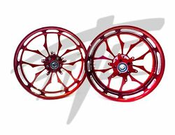 Yzf 240 Fat Tire Lollypop Red Contrast Recluse Wheels 2004-2008 Yamaha Yzf R1